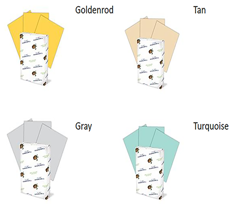 Paper bid color options